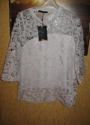 Блуза из кружева zara
