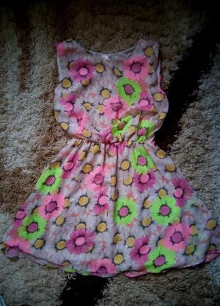 Летние платья в цветочек яркое пышное