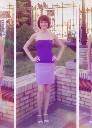 Короткая сиреневая юбка oggi