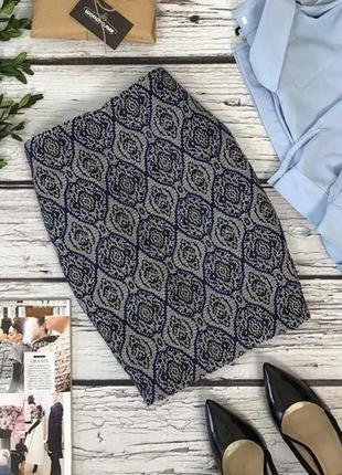 Оригинальная юбка-карандаш из фактурной ткани tu в бохо-принт  ki4689  tu