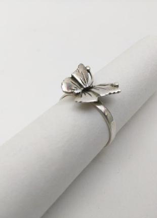 Кольцо, серебро, 925 проба, бабочка. (18,5 мм)