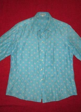 Шелковая блуза в горох 100% шелк