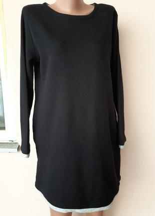 Черное платье на баечке