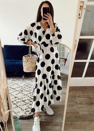 Платье zara h&m  m-l--xl тренд 2020
