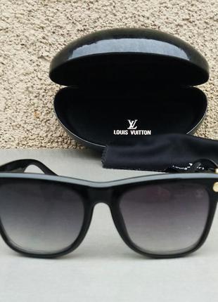 Louis vuitton очки женские солнцезащитные черные с градиентом