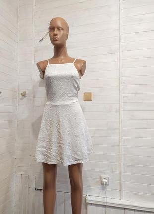 Ажурное праздничное  платье  s-m new look