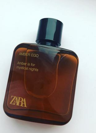 Zara amber ego 75 мл духи туалетна туалетная вода