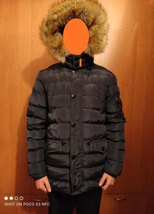 Зимняя подростковая куртка парка 152-158 см