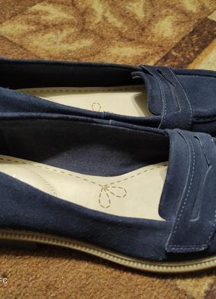 Крутые замшевые туфли лоферы 24,5 см