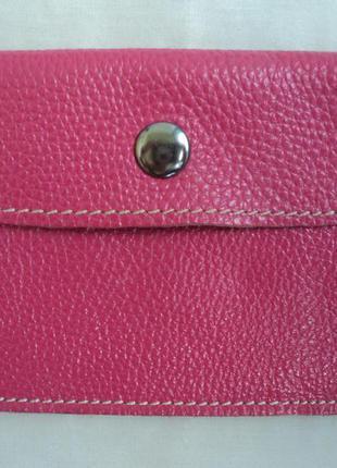 Розовый кошелек для визиток кошелек для карточек кожаный кошелек кардхолдер