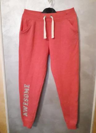 Теплые штаны на флисе баечке с карманами george утепленные на 11-12лет, рост 146-152см