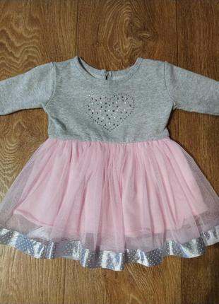 Платье на девочку до 6 мес.