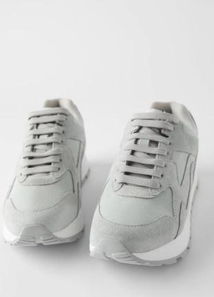 Замшевые кроссовки zara