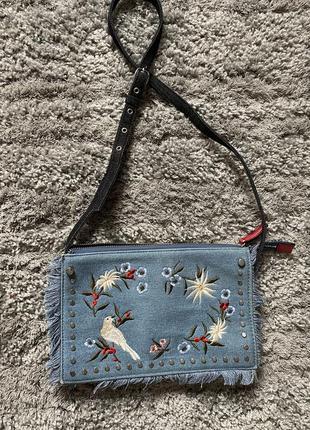 Джинсовая сумка-клатч