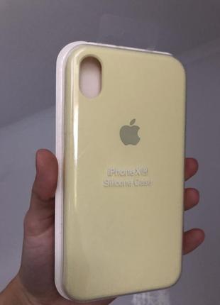 Чехол на айфон xr silicon case