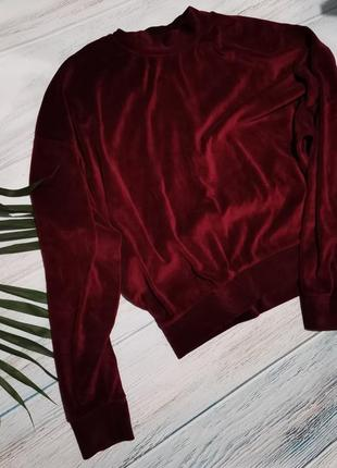 Велюровый свитер оверсайз