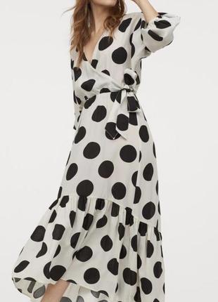 Шикарное платье в горох, h&m