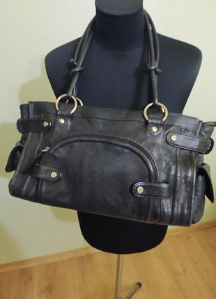 Кожаная сумка крутого английского бренда  «tj collection»
