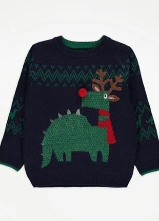 Праздничный свитер для ребенка george (великобритания) новый год рождество олени