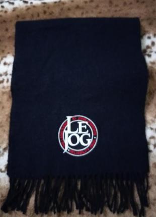 3 дня!элитный брендовый темно-синий шерстяной шарф