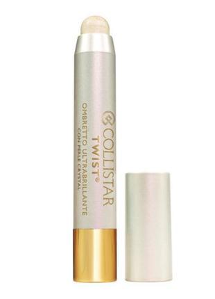 Стойкие тени карандаш collistar twist ultra-shiny eye shadow 101 diamante