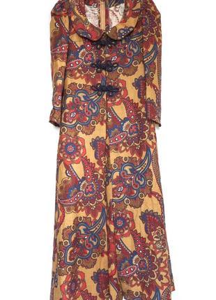 Вінтажний комплект sybil zelker at polly peck , максі пальто та сукня, зроблено в англії