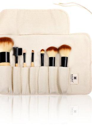 Набор кистей для макияжа shany deluxe bamboo brush set