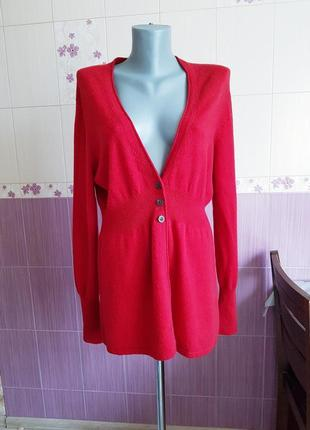 Премиум качество красный английский кардиган кофта из шерсти мериноса с кашемир