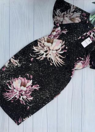 Нарядное красивое платье в цветы next