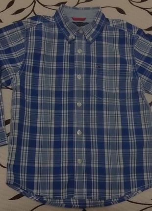 Рубашка (100% хлопок) на мальчика 4 лет, фирмы tommy hilfiger