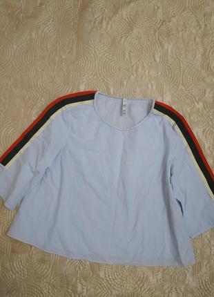 Красивая хлопковая блуза от zara