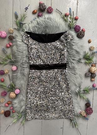Роскошное вечернее коктейльное платье в пайетках №129