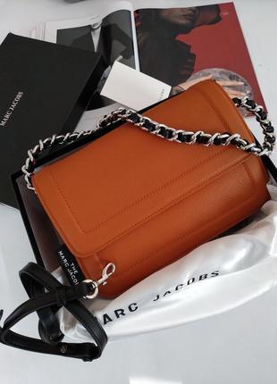 Кожаная женская сумка в стиле marc jacobs👑,  новинка!