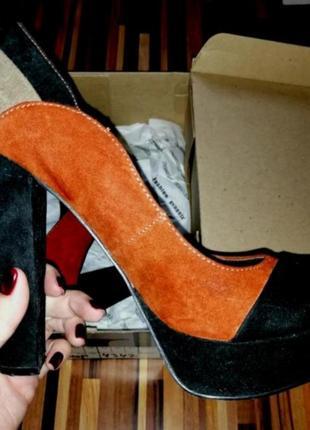 Замшевые туфли туфли замша