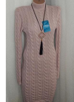 14.01 завоз!!!44-48 вязаное платье косичка дешево .шикарное качество.лучшие цены