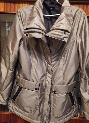 Шикарная куртка с меховой подстёжкой