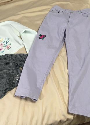 Лиловые джинсы от fus