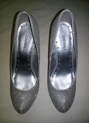 Туфли catwalk серебряный цвет