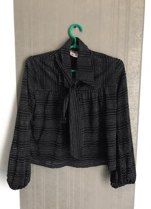 Блуза рубашка с люрексом, блестящая! очень нарядная (zara, h&m,asos)