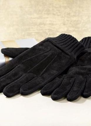 Крутой подарок к празднику! мужские перчатки из натуральной замши на флисе livergy, р.9,5