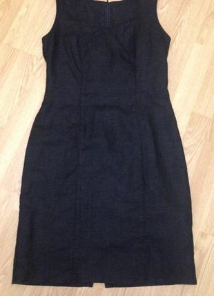 Льняное платье #платье# футляр #лен# размер l1 фото
