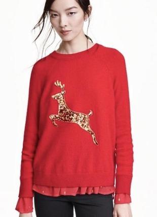 Зимний женский  свитер с оленем