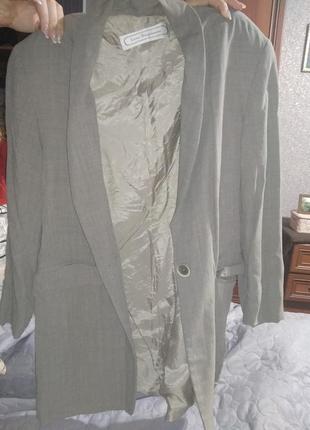 Жакет удлиненый пиджак базовый на подкладке- s m