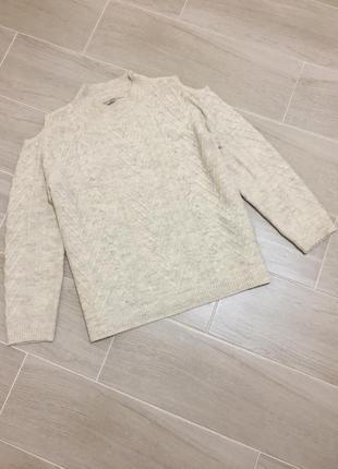 Милый свитер оверсайз с вырезами на плечах george