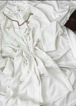 Рубашка сорочка вінтажна подовжена