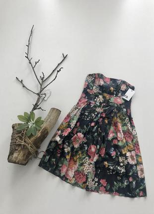 Платье в цветочек zara арт 1184