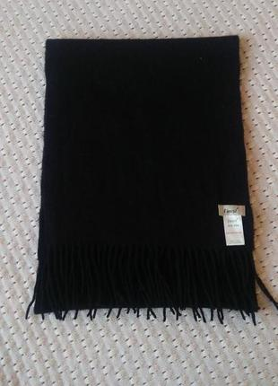 Кашемір 100% на натуральний шарф кашемировый черный тёплый шарфик из кашемира мягкий