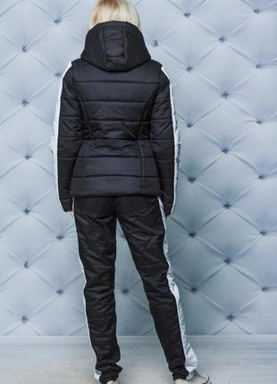 Женский зимний спортивный костюм черный 42-544 фото