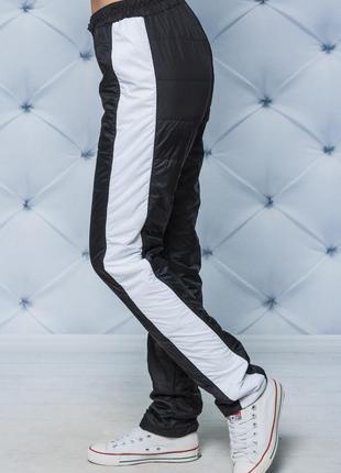 Женский зимний спортивный костюм черный 42-545 фото