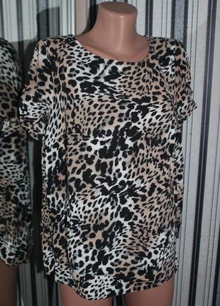Леопардовая блуза marks & spencer